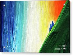 Acrylic Print featuring the painting Travelers Rainbow Waterfall Detail by First Star Art