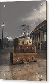 Traveling Acrylic Print by Cynthia Decker