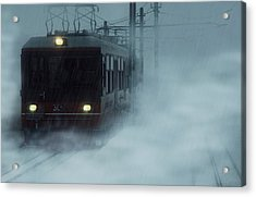 Traveling In The Snow... Acrylic Print by Vittorio Chiampan