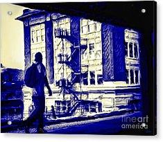 Traveling Man Acrylic Print by Jeff Breiman