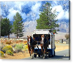 Acrylic Print featuring the photograph Traveling by Marilyn Diaz