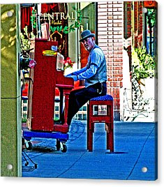 Traveling Piano Player Acrylic Print