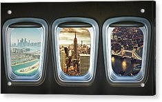 Traveling The World With An Airplane Acrylic Print by Franckreporter