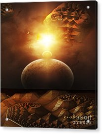 Acrylic Print featuring the digital art Traveling Through Space by Melissa Messick