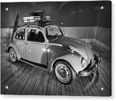Traveller's Super Beetle 001 Bw Acrylic Print