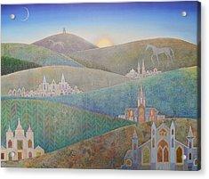 Travelling South Westward Acrylic Print by Jennifer Baird