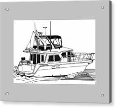 Trawler Yacht Acrylic Print by Jack Pumphrey