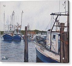 Trawlers At Gosman's Dock Montauk Acrylic Print