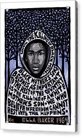 Trayvon Martin Acrylic Print by Ricardo Levins Morales
