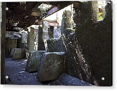 Treadwell Mine Interior Acrylic Print by Cathy Mahnke