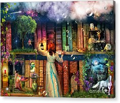 Fairytale Treasure Hunt Book Shelf Variant 2 Acrylic Print by Aimee Stewart