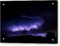 Tree And Lightning Acrylic Print