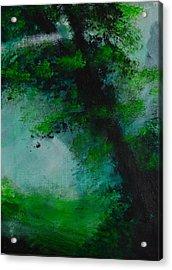 Tree And Mist Acrylic Print
