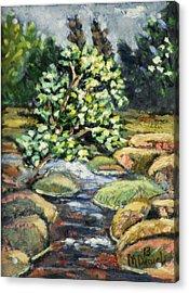 Tree And Stream Acrylic Print