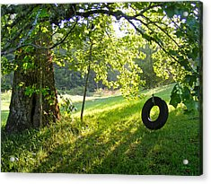 Tree And Tire Swing In Summer Acrylic Print