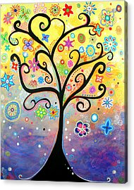 Tree Art Fantasy Abstract Acrylic Print
