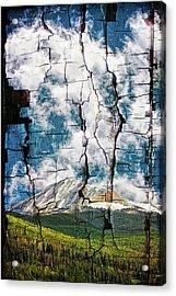 Tree Bark Mountain Tapestry Acrylic Print