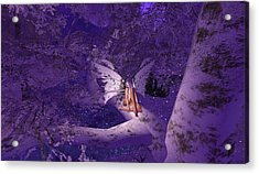 Tree Fairy In Snow Acrylic Print