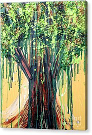 Tree Grit Acrylic Print by Genevieve Esson