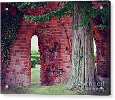 Acrylic Print featuring the photograph Tree In An Old Cloister by Art Photography