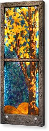 Tree Inside A Window Acrylic Print