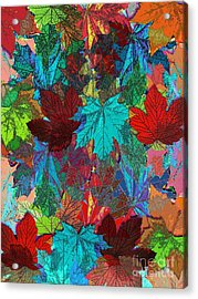 Tree Leaves Acrylic Print by Klara Acel
