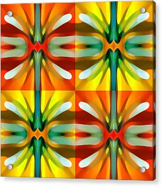 Tree Light Square Pattern Acrylic Print by Amy Vangsgard