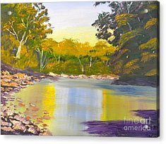 Tree Lined River Acrylic Print