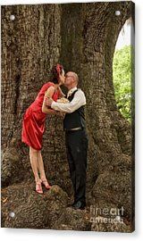 Tree Lovers- Bride And Groom Acrylic Print by Kathleen K Parker
