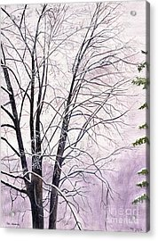 Acrylic Print featuring the painting Tree Memories by Melly Terpening