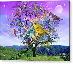 Tree Of Happiness Acrylic Print by Alixandra Mullins
