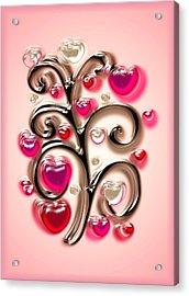 Tree Of Hearts Acrylic Print by Anastasiya Malakhova