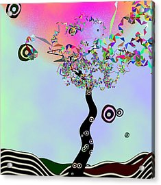 Tree Of Jim Morrison Acrylic Print by GuoJun Pan