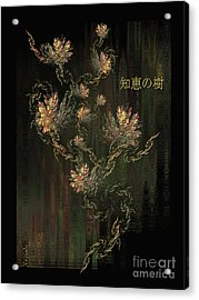 Tree Of Knowledge In Bloom - Oriental Art By Giada Rossi Acrylic Print