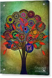 Tree Of Life 2. Version Acrylic Print by Klara Acel