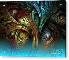 Tree Of Life Acrylic Print by Sandra Bauser Digital Art