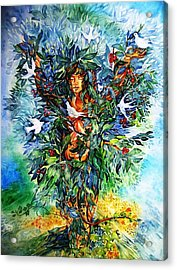 Acrylic Print featuring the painting Tree Of Life  by Trudi Doyle