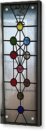 Tree Of Life With Ten Sephirots Acrylic Print