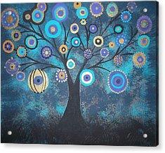 Tree Of Lights Acrylic Print by Tina Murray