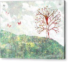 Tree Of Love Acrylic Print by Aged Pixel