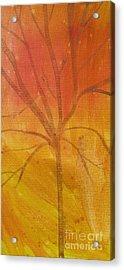 Tree Of Three Gold Acrylic Print by Robin Maria Pedrero