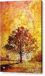 Tree On Fire Acrylic Print by Ryan Fox