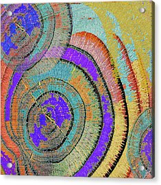 Tree Ring Abstract 3 Acrylic Print by Tony Rubino