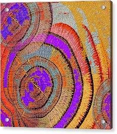 Tree Ring Abstract Acrylic Print by Tony Rubino
