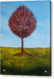 Acrylic Print featuring the painting Tree Solo by Zeke Nord