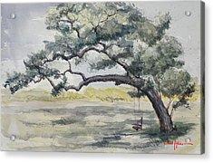 Da187 Tree Swing Painting By Daniel Adams Acrylic Print