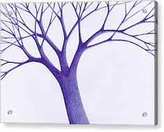 Acrylic Print featuring the drawing Tree - The Great Hand Of Nature by Giuseppe Epifani