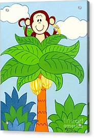 Tree Top Monkey Acrylic Print