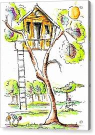 Treehouse Acrylic Print