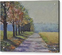 Treelined Road Acrylic Print by Joyce A Guariglia
